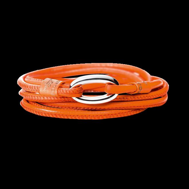 Armband Capolavoro Orange aus Kalbsleder Größe 50 cm bei Brogle