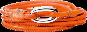 Armband Capolavoro Orange aus Kalbsleder Größe 50 cm