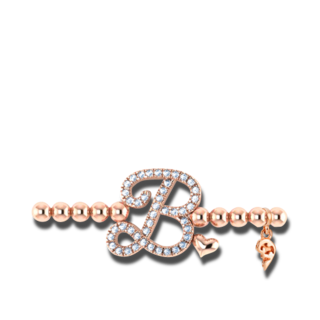 Capolavoro Armband mit Anhänger Poesia Flessibile Buchstabe B AB9BRW00300.B.INNEN.17
