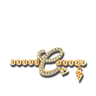 Capolavoro Armband mit Anhänger Poesia Flessibile Buchstabe C AB7BRW00300.C.INNEN.17