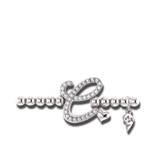 Capolavoro Armband mit Anhänger Poesia Flessibile Buchstabe C AB8BRW00300.C.INNEN.17