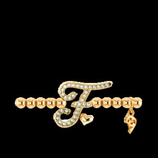 Capolavoro Armband mit Anhänger Poesia Flessibile Buchstabe F AB7BRW00300.F.INNEN.17