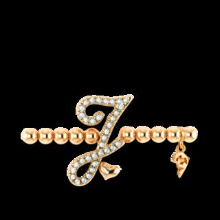Capolavoro Armband mit Anhänger Poesia Flessibile Buchstabe J AB7BRW00300.J.INNEN.17