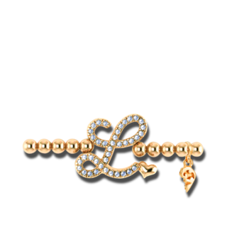 Capolavoro Armband mit Anhänger Poesia Flessibile Buchstabe L AB7BRW00300.L.INNEN.17