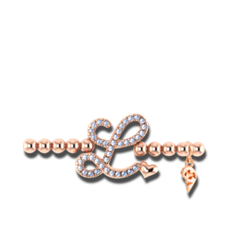 Capolavoro Armband mit Anhänger Poesia Flessibile Buchstabe L AB9BRW00300.L.INNEN.17