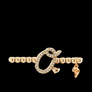 Capolavoro Armband mit Anhänger Poesia Flessibile Buchstabe O AB7BRW00300.O.INNEN.17