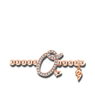 Capolavoro Armband mit Anhänger Poesia Flessibile Buchstabe O AB9BRW00300.O.INNEN.17