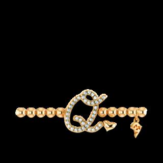 Capolavoro Armband mit Anhänger Poesia Flessibile Buchstabe Q AB7BRW00300.Q.INNEN.17