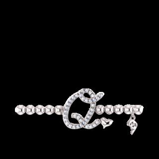 Capolavoro Armband mit Anhänger Poesia Flessibile Buchstabe Q AB8BRW00300.Q.INNEN.17