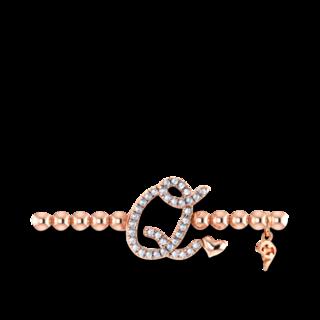 Capolavoro Armband mit Anhänger Poesia Flessibile Buchstabe Q AB9BRW00300.Q.INNEN.17