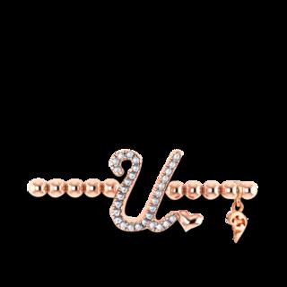 Capolavoro Armband mit Anhänger Poesia Flessibile Buchstabe U AB9BRW00300.U.INNEN.17
