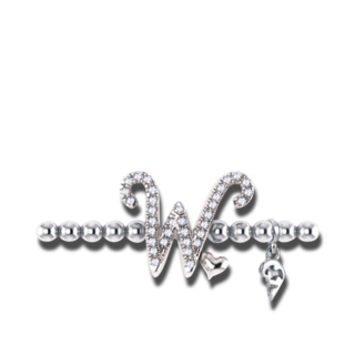 Capolavoro Armband mit Anhänger Poesia Flessibile Buchstabe W AB8BRW00300.W.INNEN.17