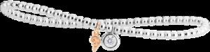 Armband Capolavoro Prosecco aus 750 Weißgold und 750 Roségold mit 1 Brillant (0,25 Karat)
