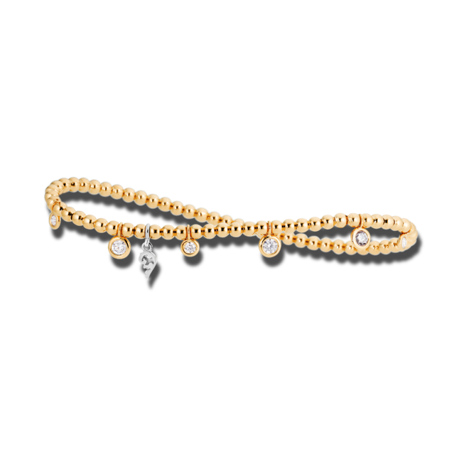 Armband Capolavoro Prosecco d´oro aus 750 Gelbgold und 750 Weißgold mit 7 Brillanten (0,5 Karat)