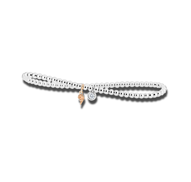 Armband Capolavoro Prosecco d´oro aus 750 Weißgold und 750 Gelbgold mit 1 Brillant (0,1 Karat) bei Brogle