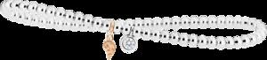 Armband Capolavoro Prosecco d´oro aus 750 Weißgold und 750 Gelbgold mit 1 Brillant (0,1 Karat)