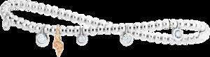 Armband Capolavoro Prosecco d´oro aus 750 Weißgold und 750 Roségold mit 7 Brillanten (0,5 Karat)