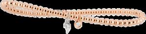 Armband Capolavoro Prosecco d´oro aus 750 Roségold und 750 Weißgold mit 1 Brillant (0,05 Karat)