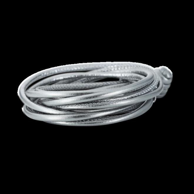 Armband Capolavoro Silber Metallic aus Kalbsleder Größe 42 cm bei Brogle