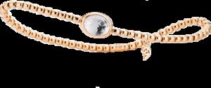 Armband mit Anhänger Capolavoro Velluto aus 750 Roségold mit 1 Bergkristall