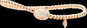 Armband mit Anhänger Capolavoro Velluto aus 750 Roségold mit 1 Mondstein