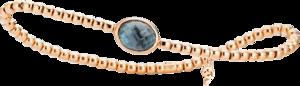 Armband mit Anhänger Capolavoro Velluto aus 750 Roségold mit 1 London Topas