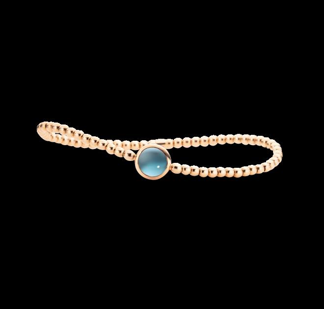 Armband Capolavoro Velluto Flessibile aus 750 Roségold mit 1 Blautopas Größe 17 cm bei Brogle