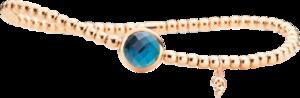 Armband Capolavoro Velluto Flessibile aus 750 Roségold mit 1 London Topas