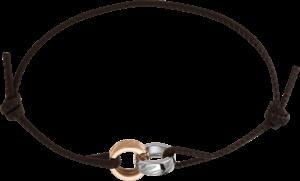 Armband Chopard Chopardissimo aus Kalbsleder, 750 Roségold und 750 Weißgold
