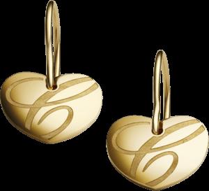 Ohrhänger Chopard Chopardissimo Herz aus 750 Gelbgold