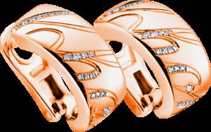 Ohrring Chopard Chopardissimo aus 750 Roségold mit 66 Brillanten (2 x 0,08 Karat)