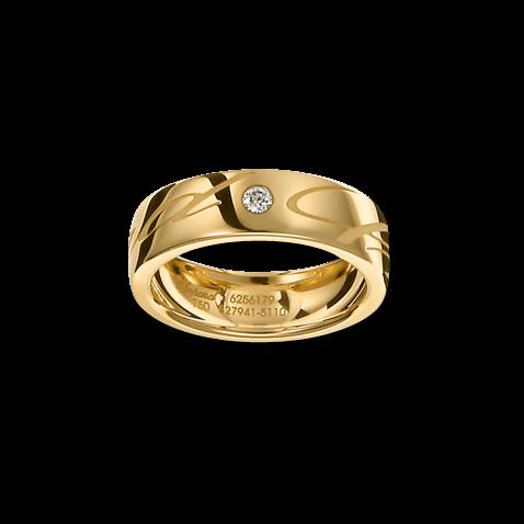 Ring Chopard Chopardissimo aus 750 Gelbgold mit 1 Brillant (0,04 Karat)