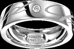 Ring Chopard Chopardissimo aus 750 Weißgold mit 1 Brillant (0,04 Karat)
