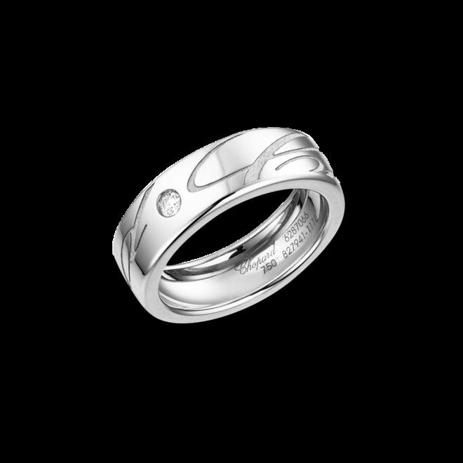 Ring Chopard Chopardissimo aus 750 Weißgold mit 1 Brillant (0,04 Karat) bei Brogle