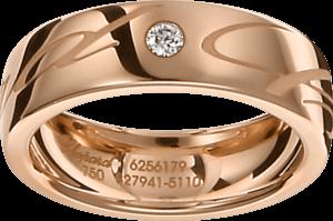 Ring Chopard Chopardissimo aus 750 Roségold mit 1 Brillant (0,04 Karat)