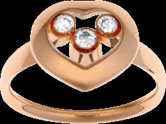 Ring Chopard Happy Curves aus 750 Roségold mit 3 Brillanten (0,13 Karat)