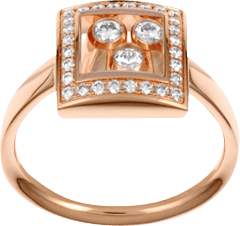 Ring Chopard Happy Curves aus 750 Roségold mit 31 Diamanten (0,28 Karat)