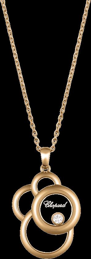 Halskette mit Anhänger Chopard Happy Dreams aus 750 Roségold mit 1 Brillant (0,09 Karat)