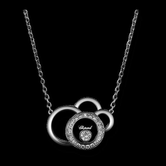 Halskette mit Anhänger Chopard Happy Dreams aus 750 Weißgold mit 22 Diamanten (0,23 Karat)
