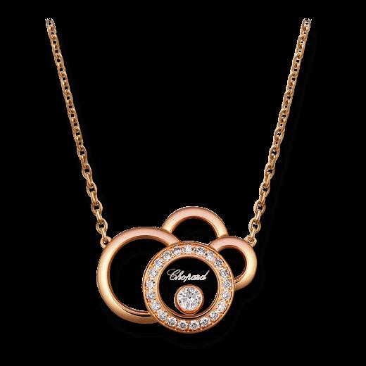 Halskette mit Anhänger Chopard Happy Dreams aus 750 Roségold mit 22 Diamanten (0,23 Karat)