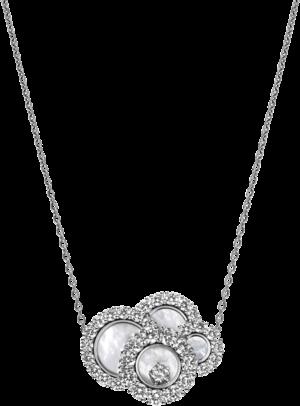 Halskette mit Anhänger Chopard Happy Dreams aus 750 Weißgold und Perlmutt mit 34 Brillanten (2,1 Karat)