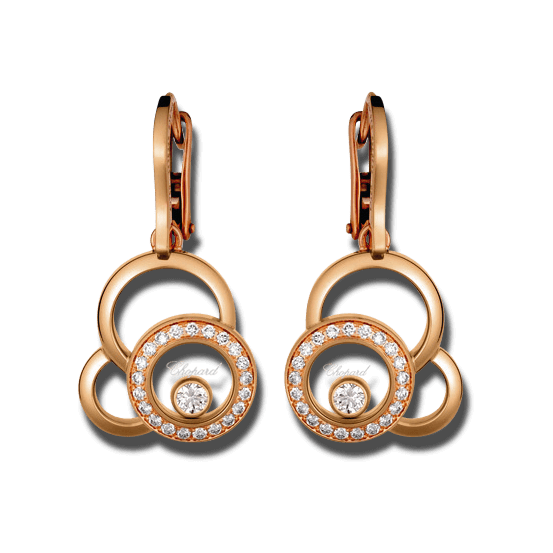 Ohrring Chopard Happy Dreams aus 750 Roségold mit 44 Diamanten (2 x 0,24 Karat)