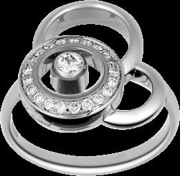 Ring Chopard Happy Dreams aus 750 Weißgold mit 22 Diamanten (0,23 Karat)