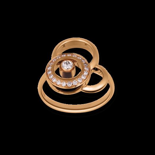 Ring Chopard Happy Dreams aus 750 Roségold mit 22 Diamanten (0,23 Karat)