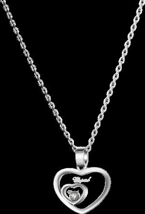 Halskette mit Anhänger Chopard Happy Hearts aus 750 Weißgold mit 1 Brillant (0,05 Karat)