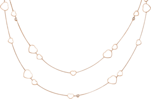 Halskette Chopard Happy Hearts aus 750 Roségold mit 3 Brillanten (0,15 Karat)