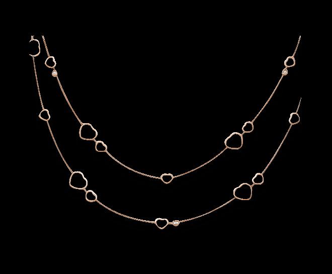 Halskette Chopard Happy Hearts aus 750 Roségold mit 3 Brillanten (0,15 Karat) bei Brogle