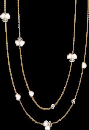 Halskette mit Anhänger Chopard Happy Hearts aus 750 Roségold mit 6 Brillanten (0,4 Karat) und 11 Perlmutt