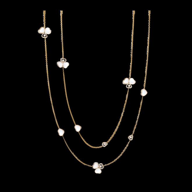 Halskette mit Anhänger Chopard Happy Hearts aus 750 Roségold mit 6 Brillanten (0,4 Karat) und 11 Perlmutt bei Brogle