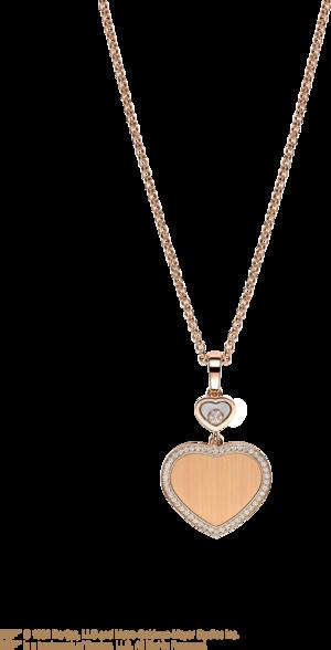 Halskette mit Anhänger Chopard Happy Hearts James Bond 007 aus 750 Roségold mit 45 Brillanten (0,24 Karat)